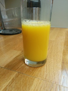 The finished juice